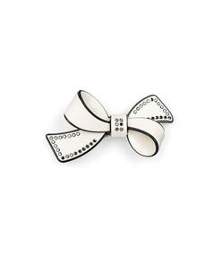lulu bow barrette in black/white