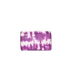 clic clac large clutch in tie dye violet lambskin
