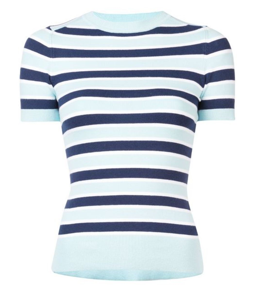 JOOSTRICOT Light Blue/Navy Striped Tshirt