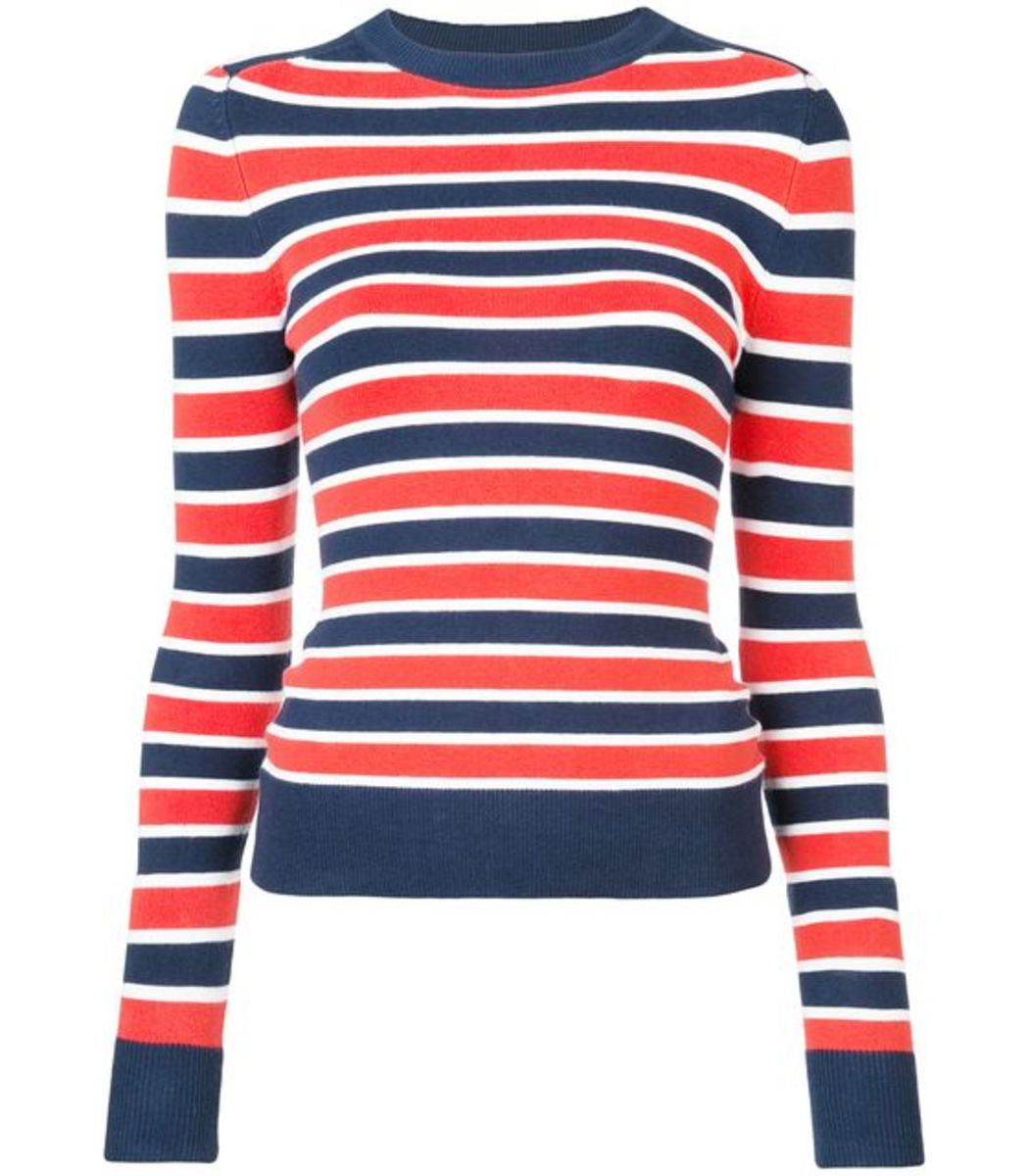JOOSTRICOT Navy/Red Striped Sweater