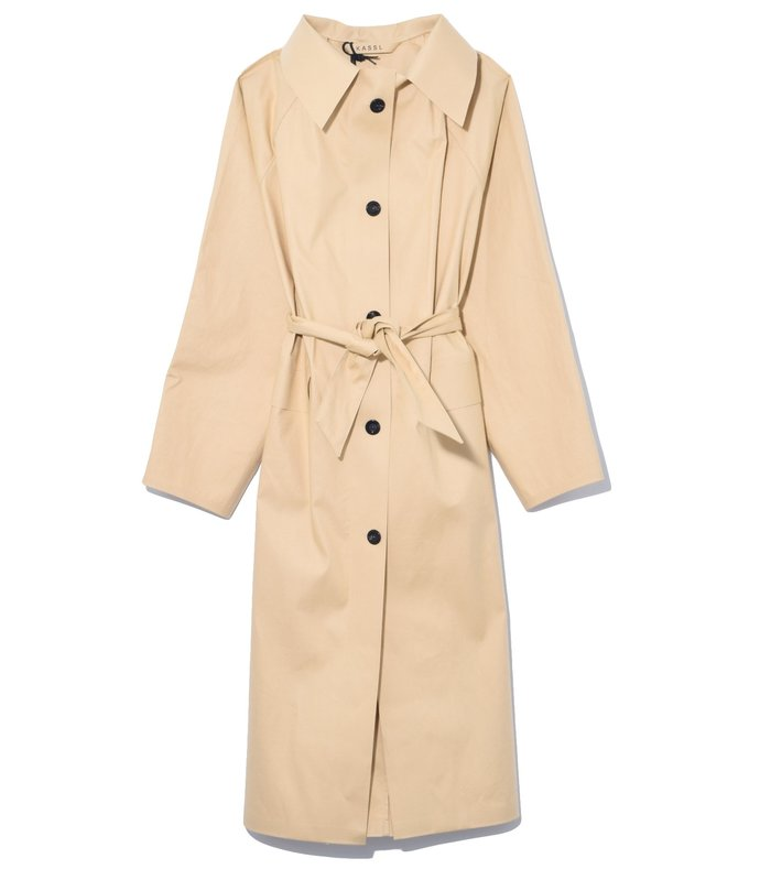 below the knee trench in beige