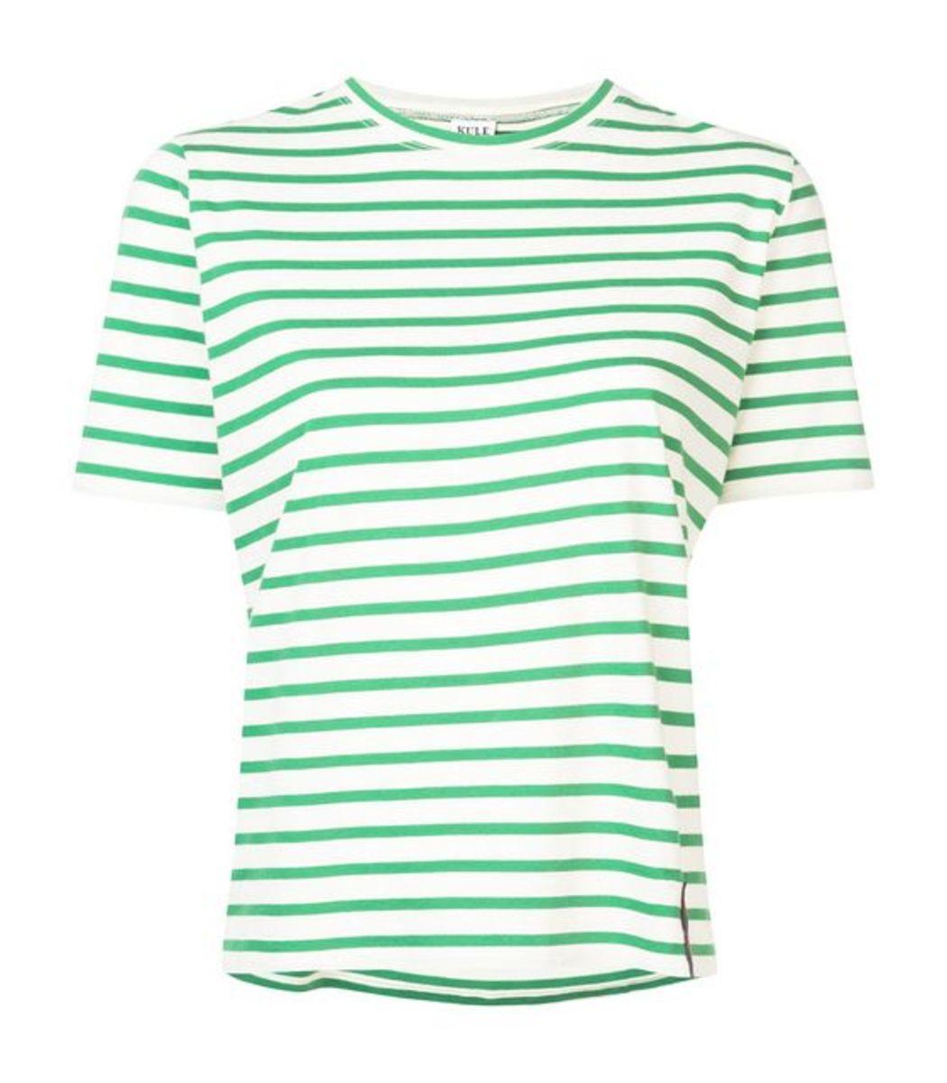 KULE Green/White Striped TShirt