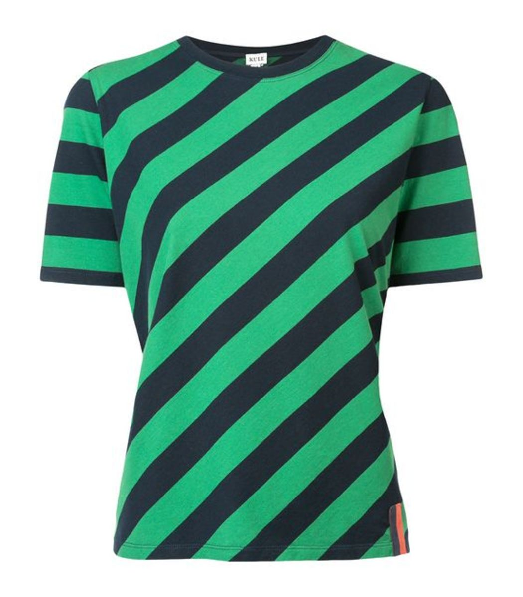 KULE Green/Navy Striped T-Shirt