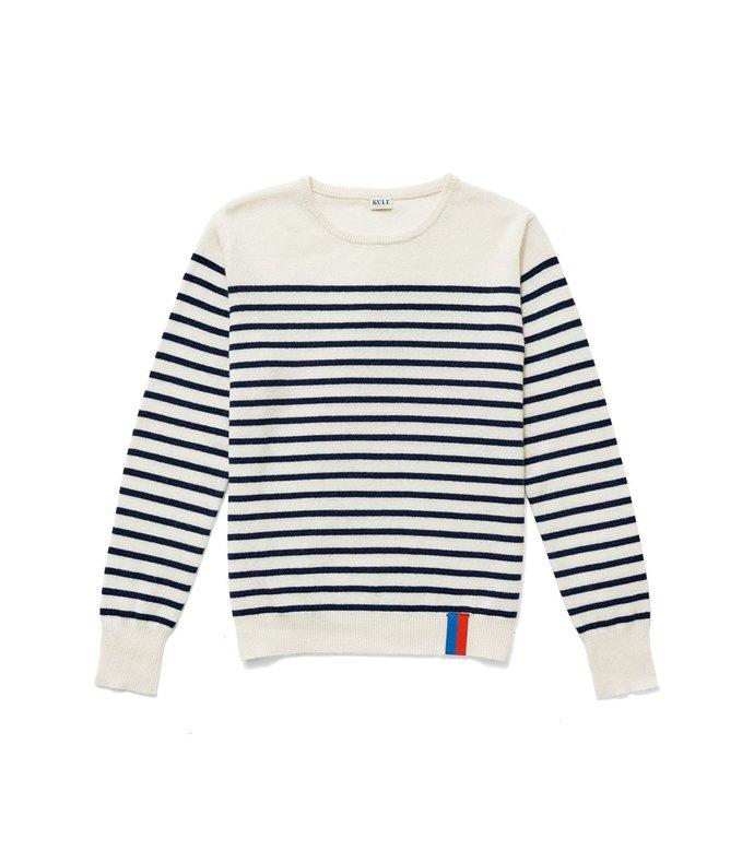 the sophie top in cream/navy