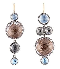 blue multicolor sadie mis matched bubble earrings