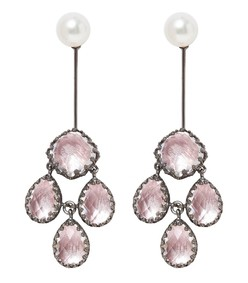 pink antoinette girandole drop earrings