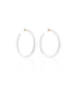 large jelly lucite hoop earrings