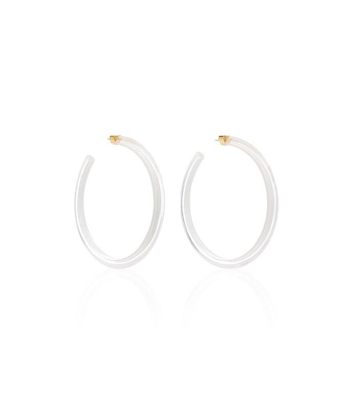 large jelly lucite hoop earrings