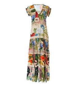 catalina v-neck embroidered maxi dress