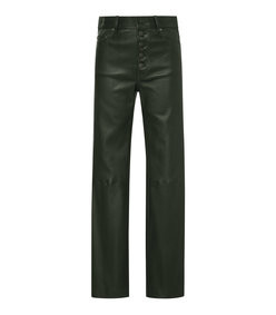 den stretch leather straight-leg pant