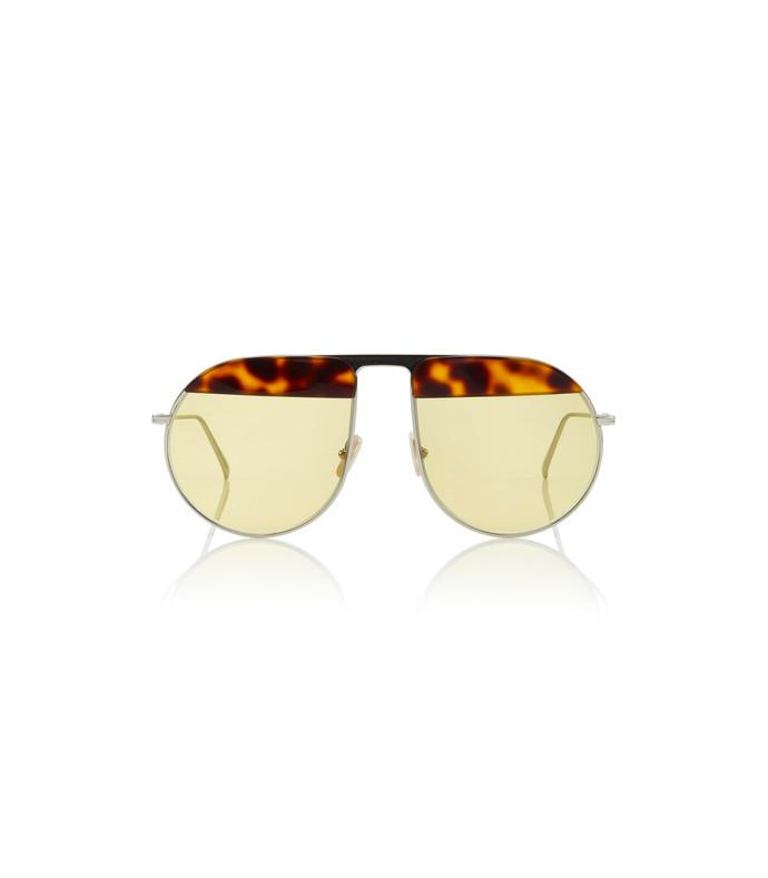 pilot metal and tortoiseshell acetate sunglasses