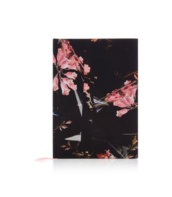 floral-print silk hardcover notebook