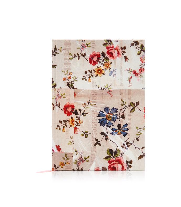 floral-print silk hardcover notebook