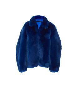 oversized faux fur jacket