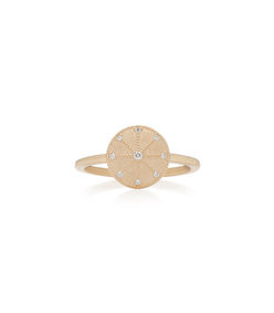energy 14k gold diamond ring