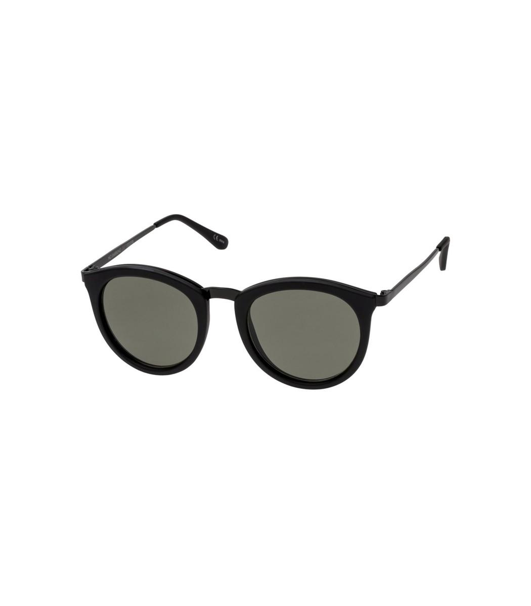 LE SPECS No Smirking Sunglasses in Black Rubber