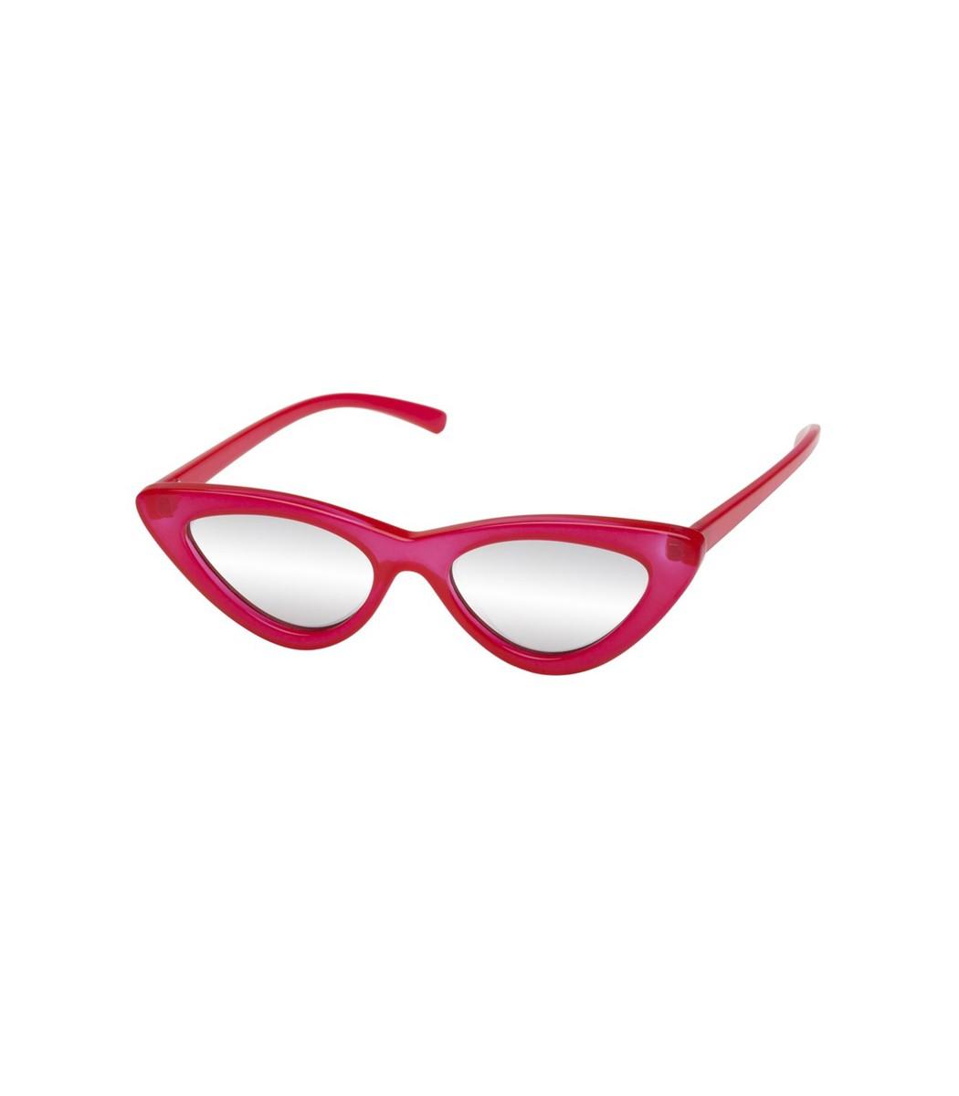 dad4ad87405 Le Specs + Adam Selman The Last Lolita Cat-Eye Acetate Mirrored Sunglasses  In Red