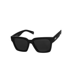 weekend riot sunglasses in black rubber
