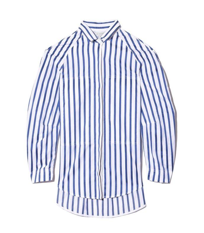 ottilie stripe pocket shirt in navy