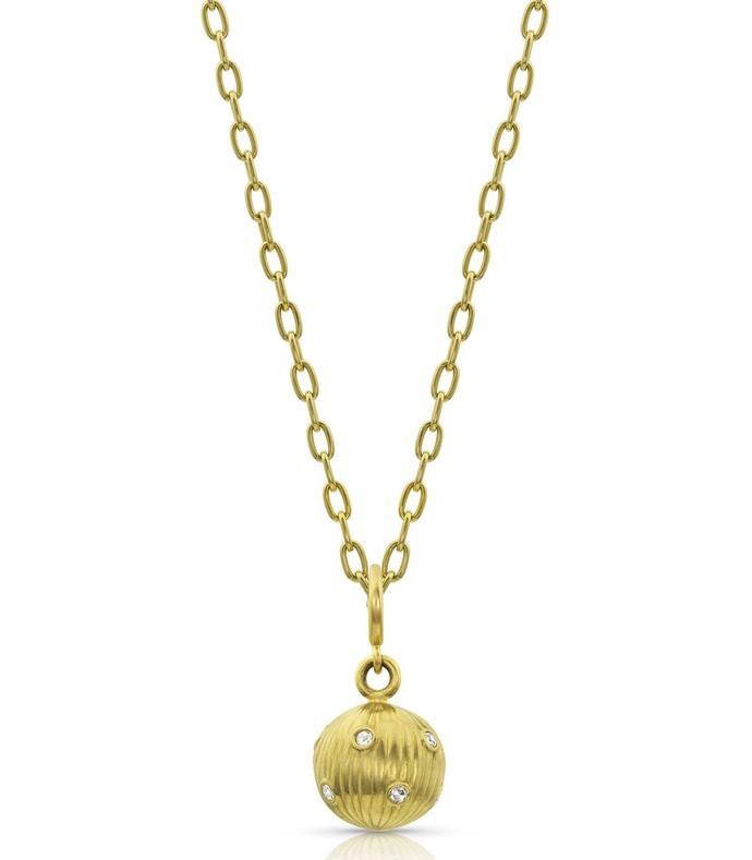 diamond sphere pendant