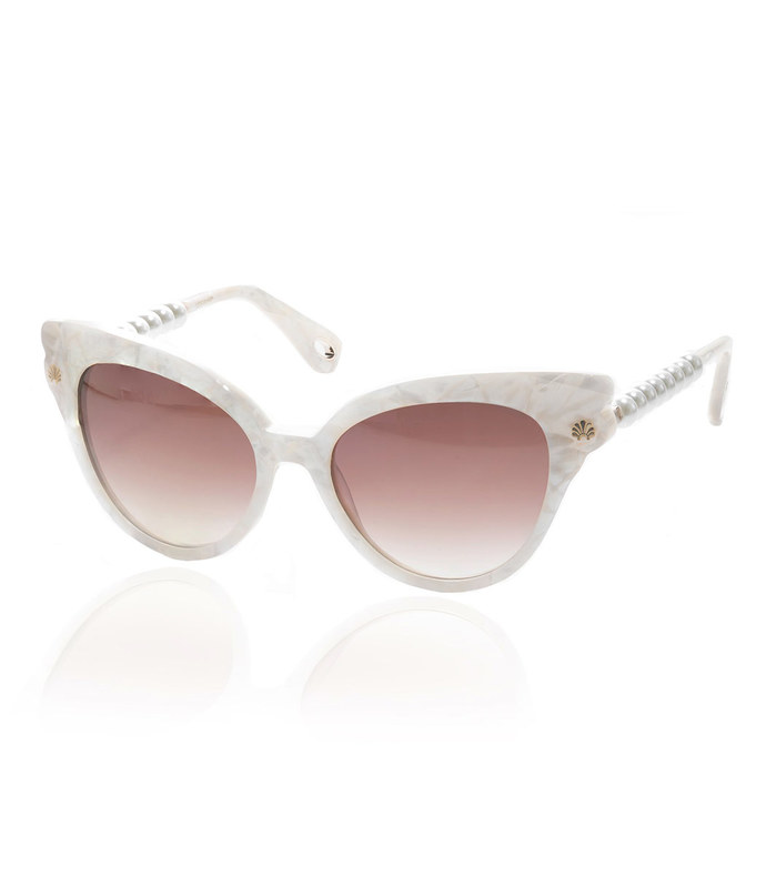 mother of pearl chelsea pearl cat-eye sunglasses