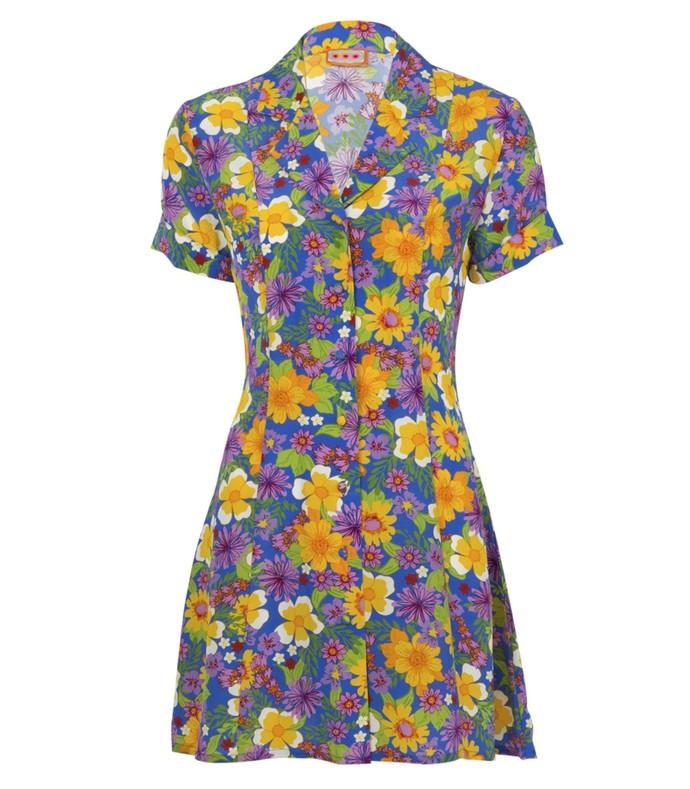 clemenceau dress floral blue