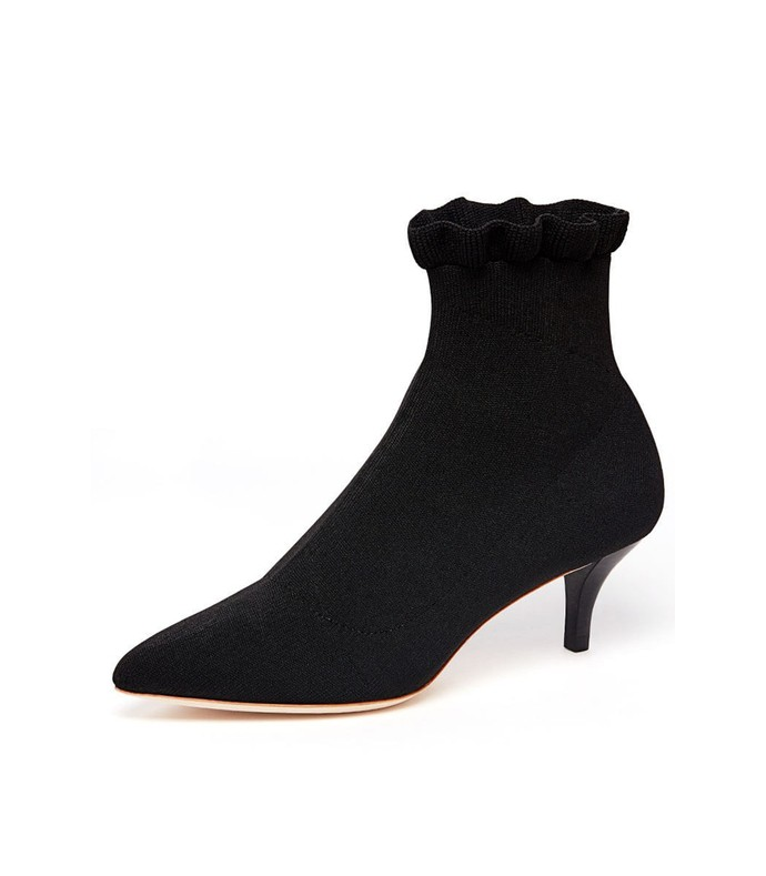 kassidy kitten heel stretch bootie in black