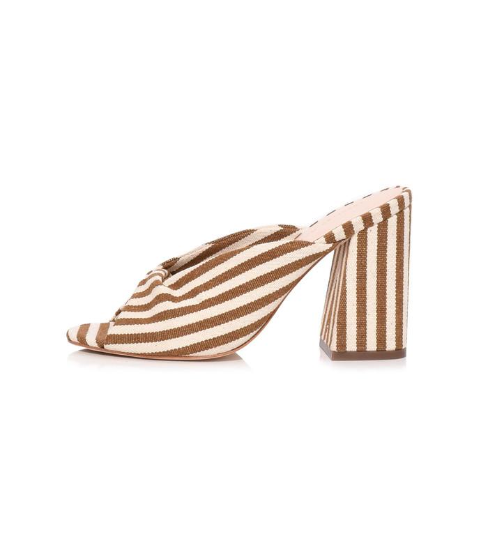 laurel sandal in amber/natural