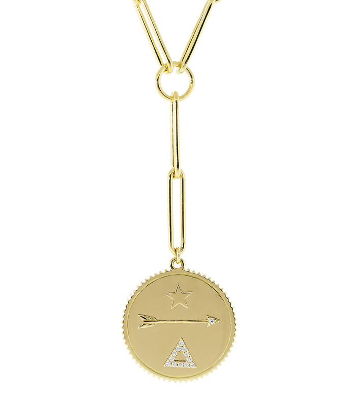 large dream medallion clip chain necklace