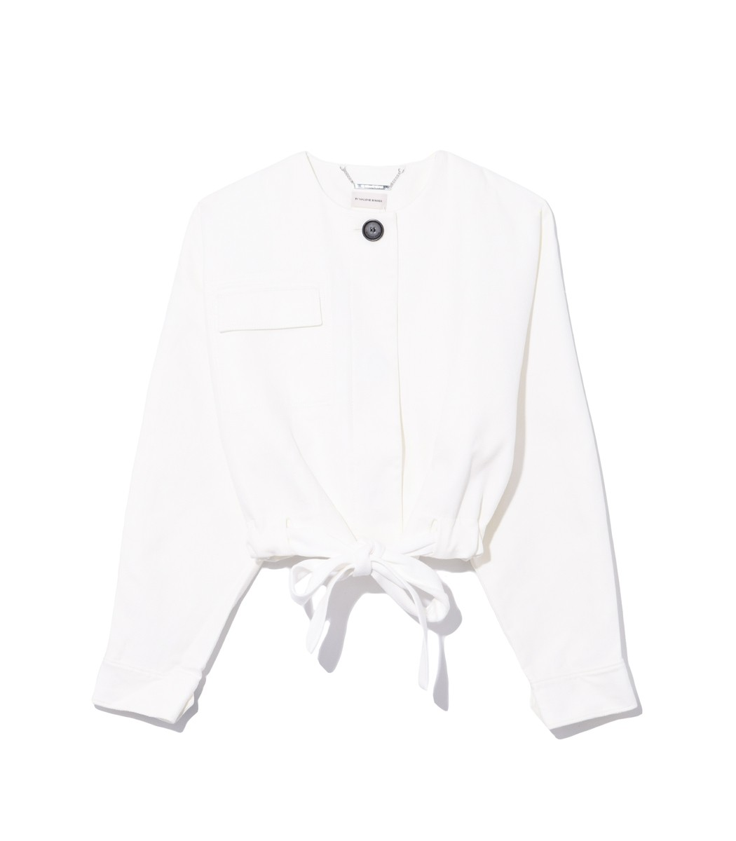 By Malene Birger Cotton Jacket in Soft White