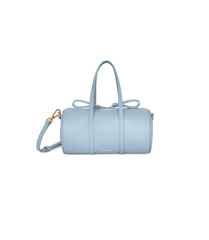 grey blue lamb mini mini duffle bag