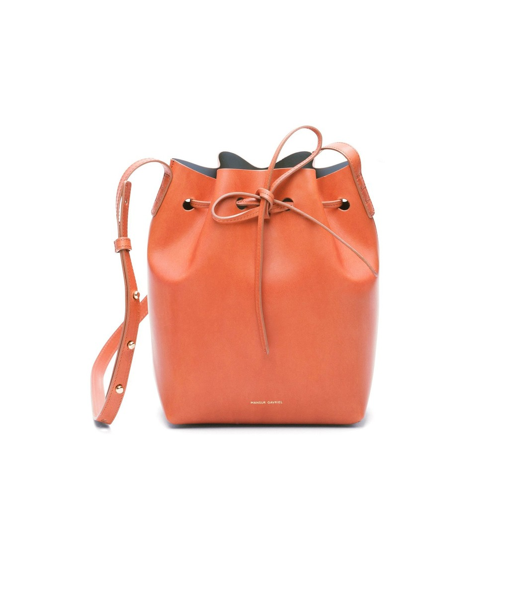 MANSUR GAVRIEL Brandy/Avion Mini Bucket Bag