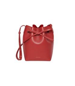 red flamma saffiano mini bucket bag