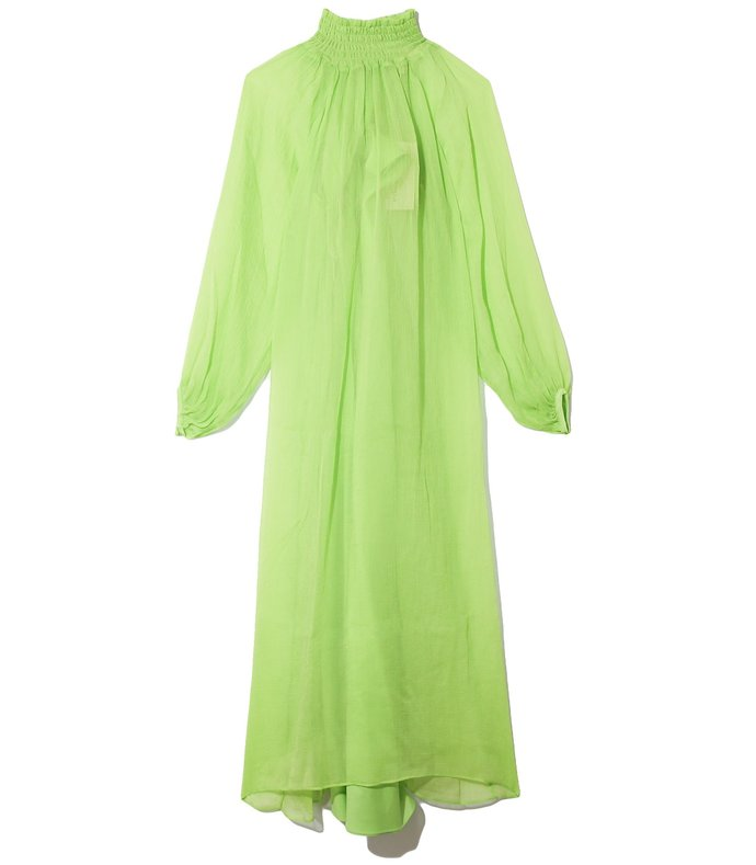 edmonia dress in lime
