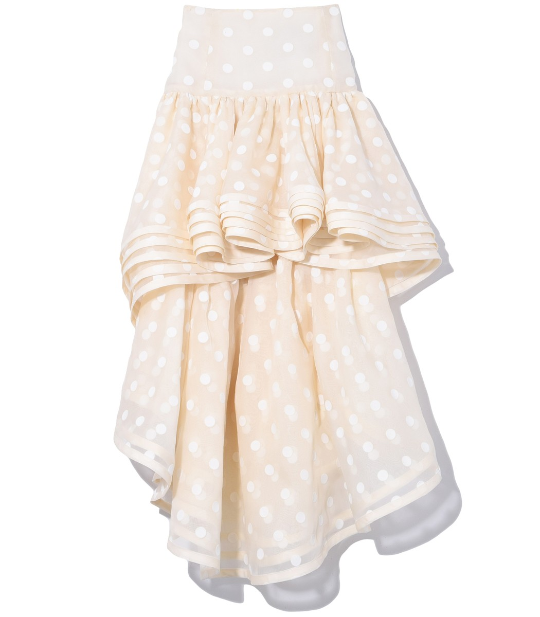 Marc Jacobs Skirts Layered Hi-Low Skirt in Ivory