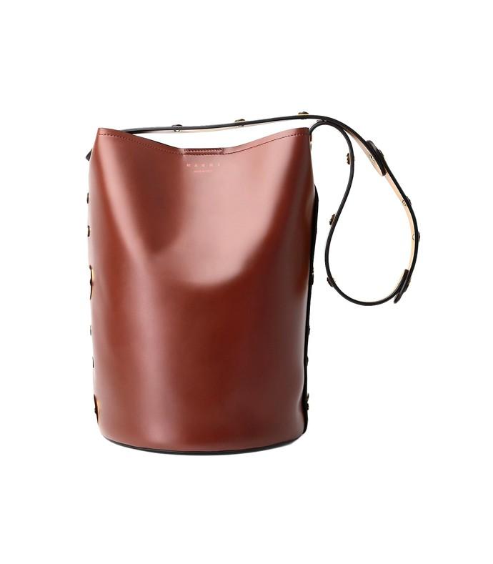 Marni. Punch Bag in Cinnamon Black Honey 3682bd57f0a7f
