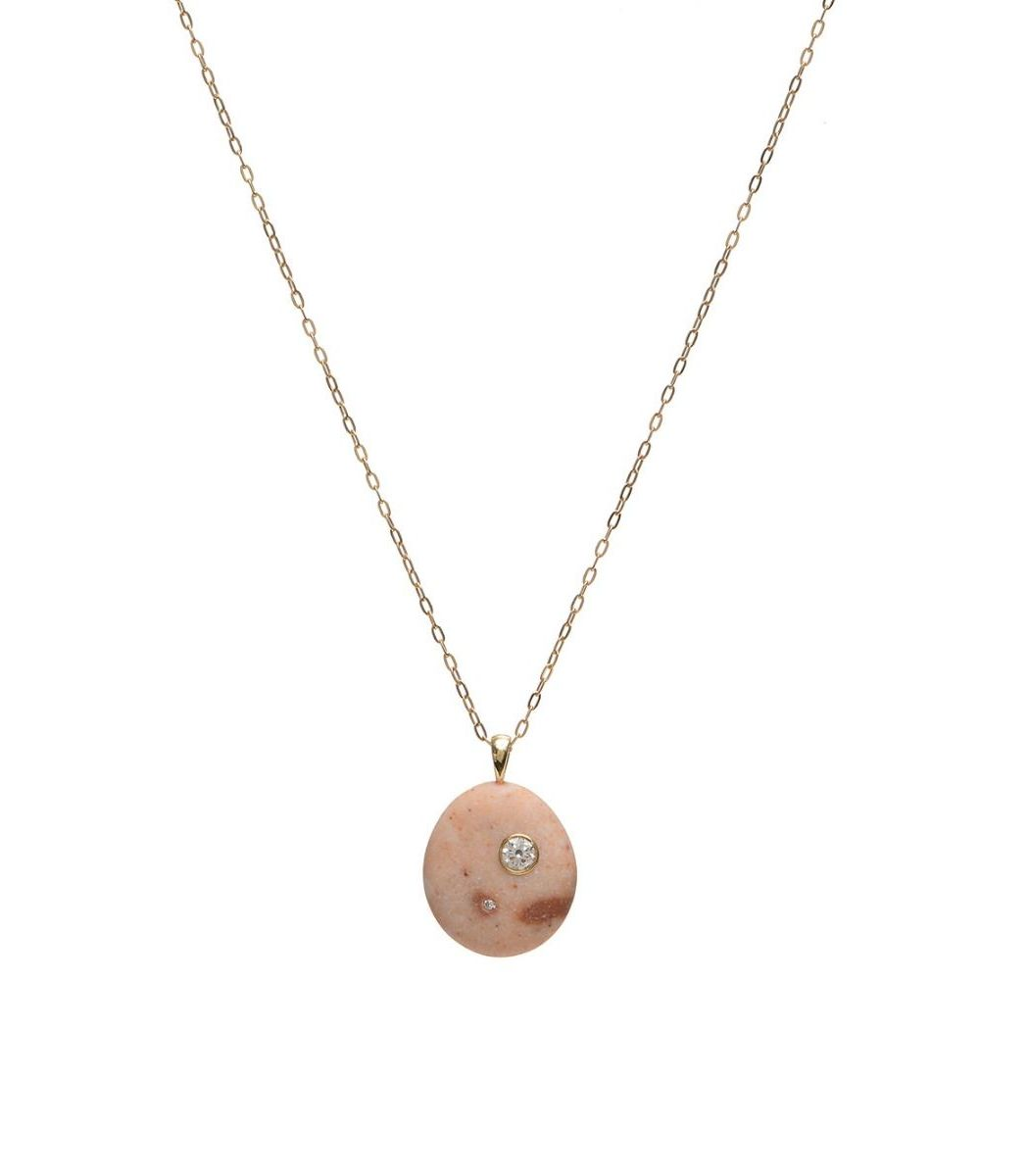 Cvc Stones Mini Me Stone And Diamond Necklace