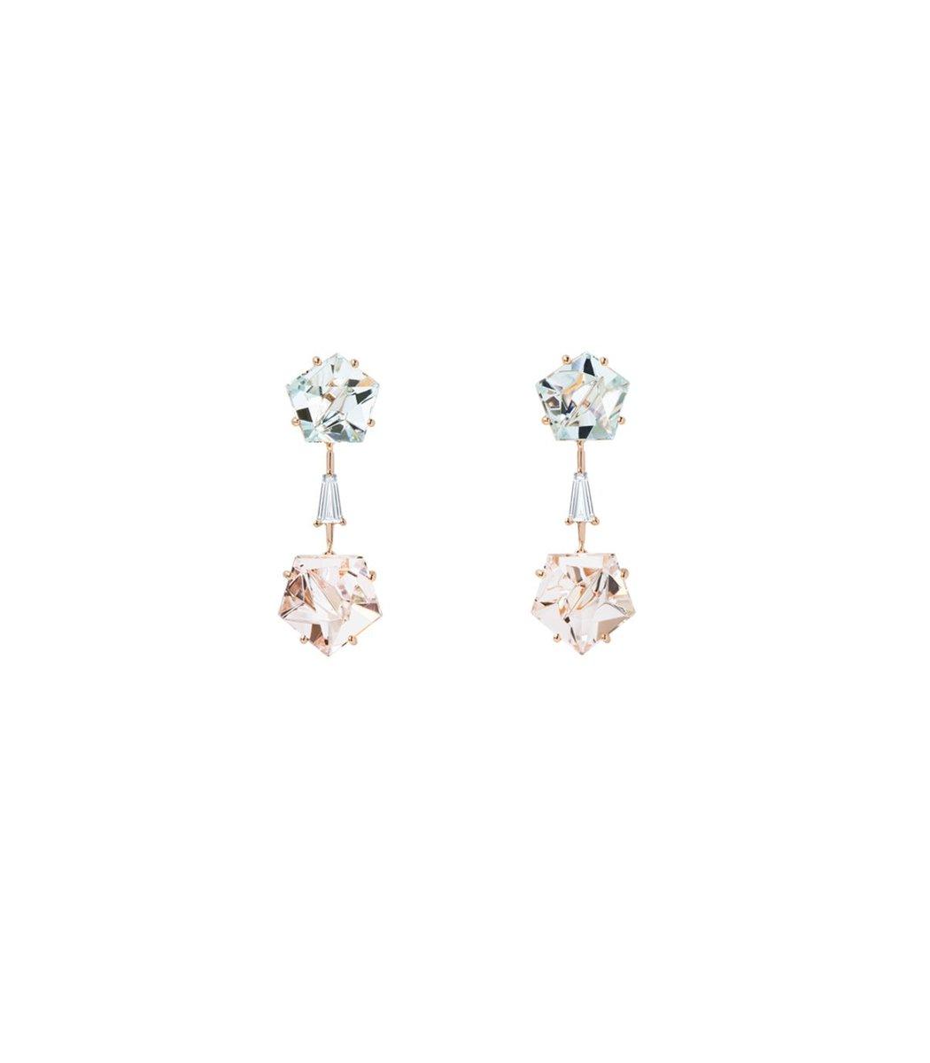 Misui Klar Drop Earrings In Blue/pink