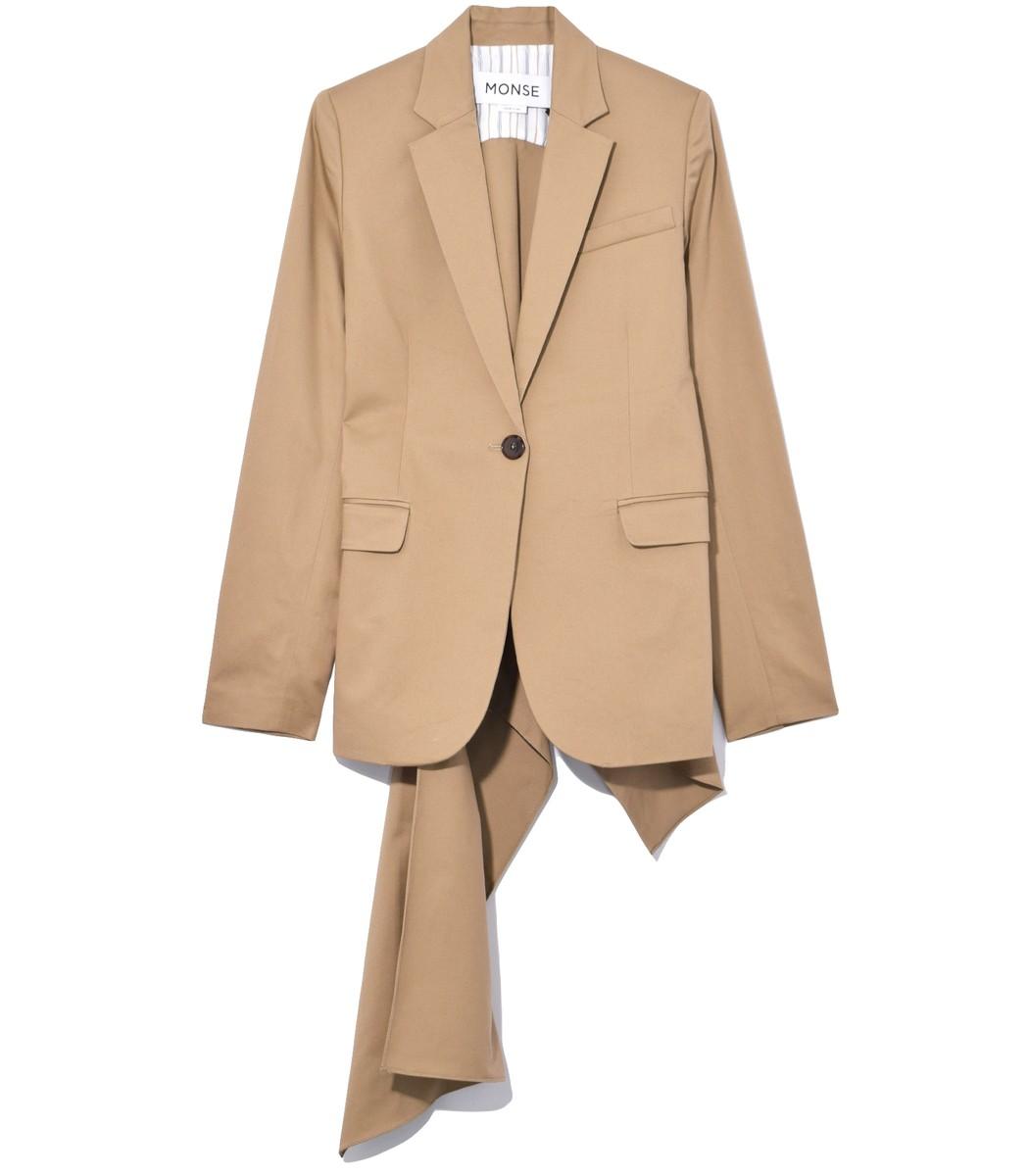 Khaki Flare Back Jacket