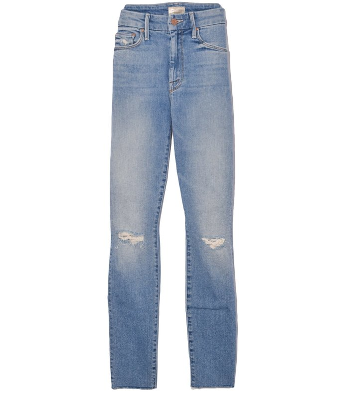high waisted looker ankle fray jean in shoot to thrill destroyed