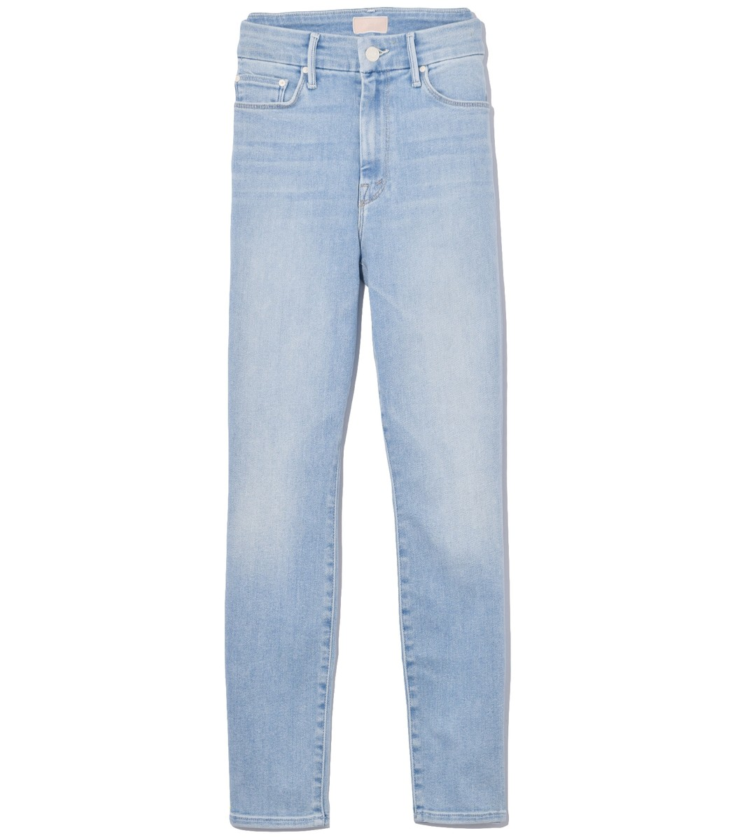 Mother Jeans High Waisted Looker Crop Jean in Swimming Pool Sunday