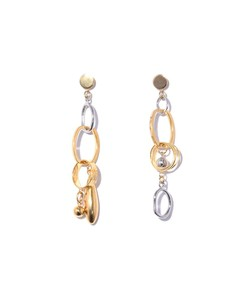 modernist charm earrings in gold