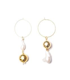 pagoda fruit earrings in gold
