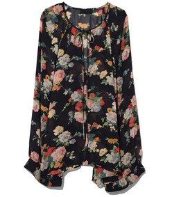 multicolor floral print acadia blouse