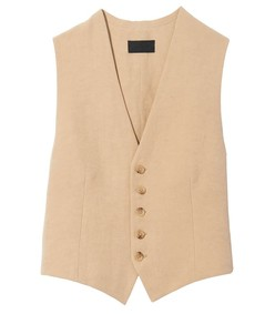 angelina vest in camel