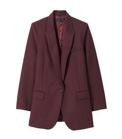 diane blazer in burgundy