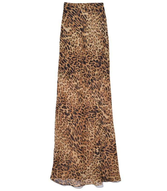 Ella Skirt in Ginger Leopard Print X Shop Bazaar