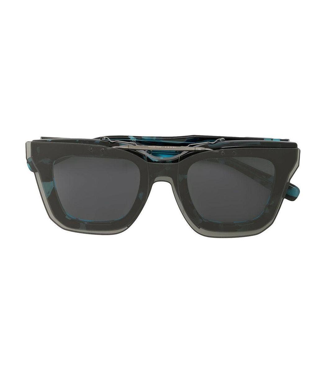 Sacai Black And Blue Tortoiseshell Sunglasses