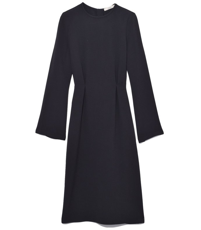 long sleeve sheath dress in black