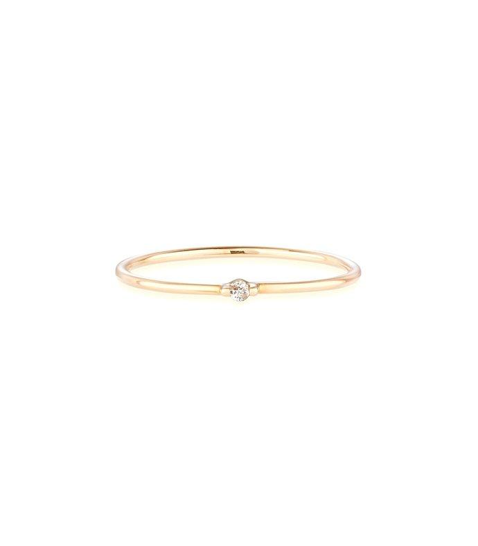 diamond bamboo ring in gold